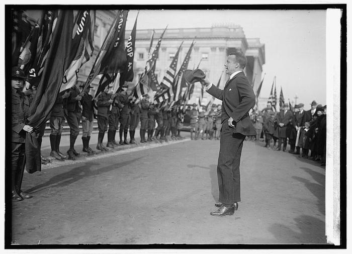Theodore Roosevelt III addressing Boy Scout troops circa 1923