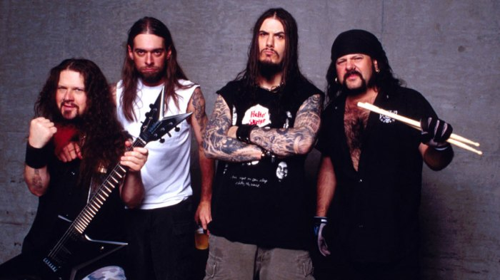 Pantera From Left: Dimebag Darrell (RIP), Rex Brown, Phil Anselmo, Vinnie Paul