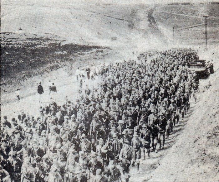 Scouts on the March at the Jambo in '53