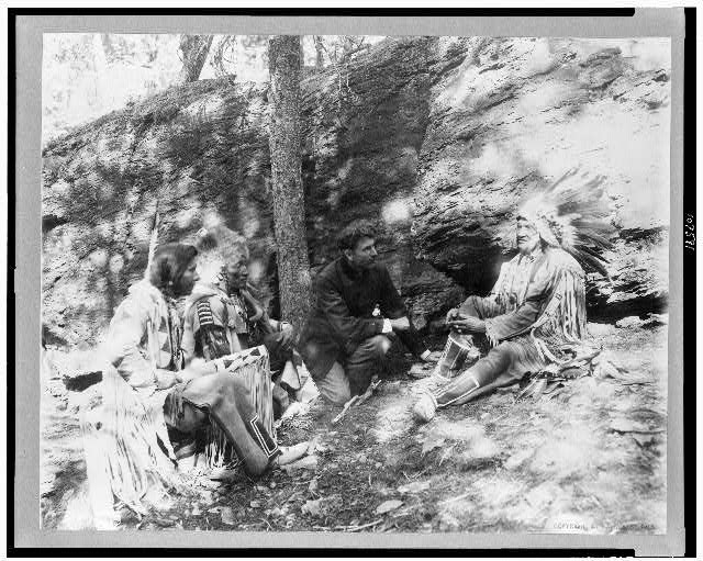 Ernest Thompson Seton with Blackfeet Indians, 1917.