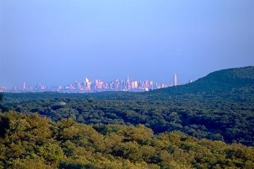 New York Skyline as seen from Ramapo Mountain, NJ.