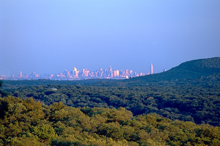 New York Skyline as seen from Ramapo Mountain, NJ.