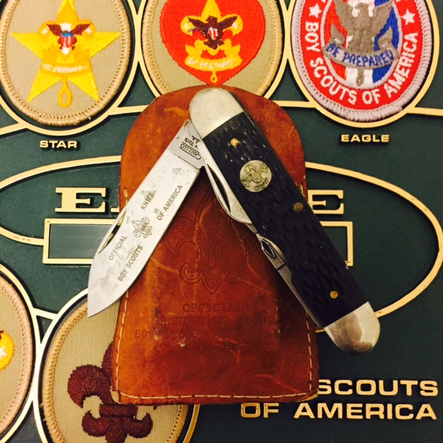 My own scout knife recently reclaimed from the clutter, J.C.