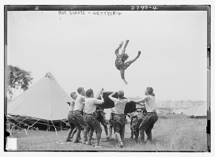 Boy Scouts at Gettysburg, PA. Date Unknown.